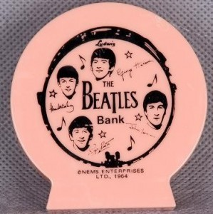 This counterfeit Beatles bank was not made in 1964 and never appeared during the original wave of Beatlemania.
