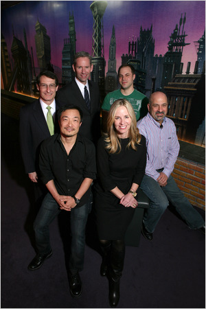 The DC Comics corporate brain trust.