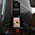 """Detective Comics"" #27 on the Times Square Jumbotron."