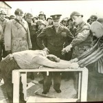 One of the photos Will bought at the John Smickle estate sale in Chattanooga, Tenn., was this one showing Generals George S. Patton (left), George C. Marshall (trench coat), Omar Bradley (over Marshall's shoulder) and Dwight D. Eisenhower (center), watching former concentration camp prisoners demonstrating tortures used on them.