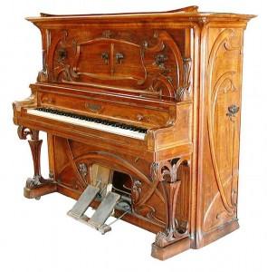 Art Nouveau Upright Player Piano.