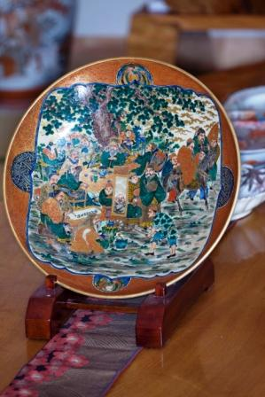 A large Shoza plate that John Wocher considers to be the best piece in this 500-plus-piece collection of Japanese ceramics.