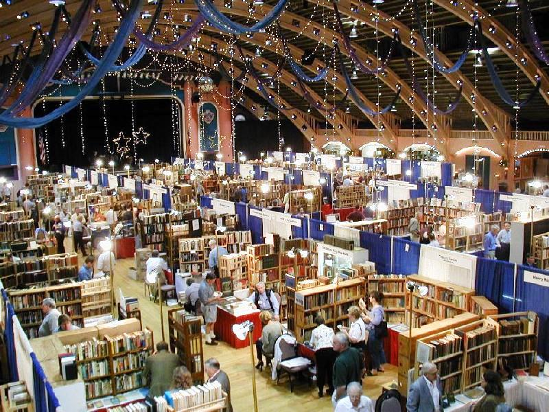 View from the balcony at the Florida Antiquarian Book Fair.