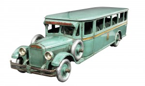 This extremely rare Buddy L toy bus is one of many Buddy L toys in the sale (est. $8,000-$12,000).