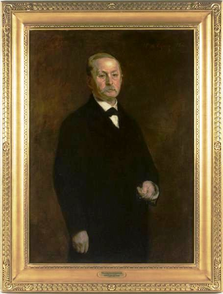 This oil-on-canvas portrait of William Whiteright, Jr. by William Merritt Chase (NY, 1849-1916), is estimated to bring between $20,000-$30,000 at the March 20, 2010 Fine & Decorative Arts Cataloged Auction, hosted by Leland Little Auction & Estate Sales, Ltd.