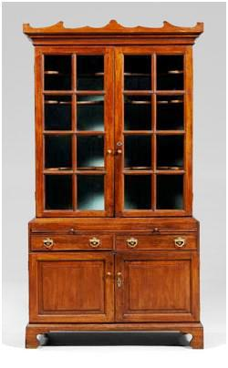 This Chippendale walnut china press, which had been a family possession for four generations, sold for more than twice its high estimate at auction. Worthologist Audra Blevins handed the brokering process for the family, selecting Brunk's Auction in Asheville, N.C. as the best auction house to sell the piece.
