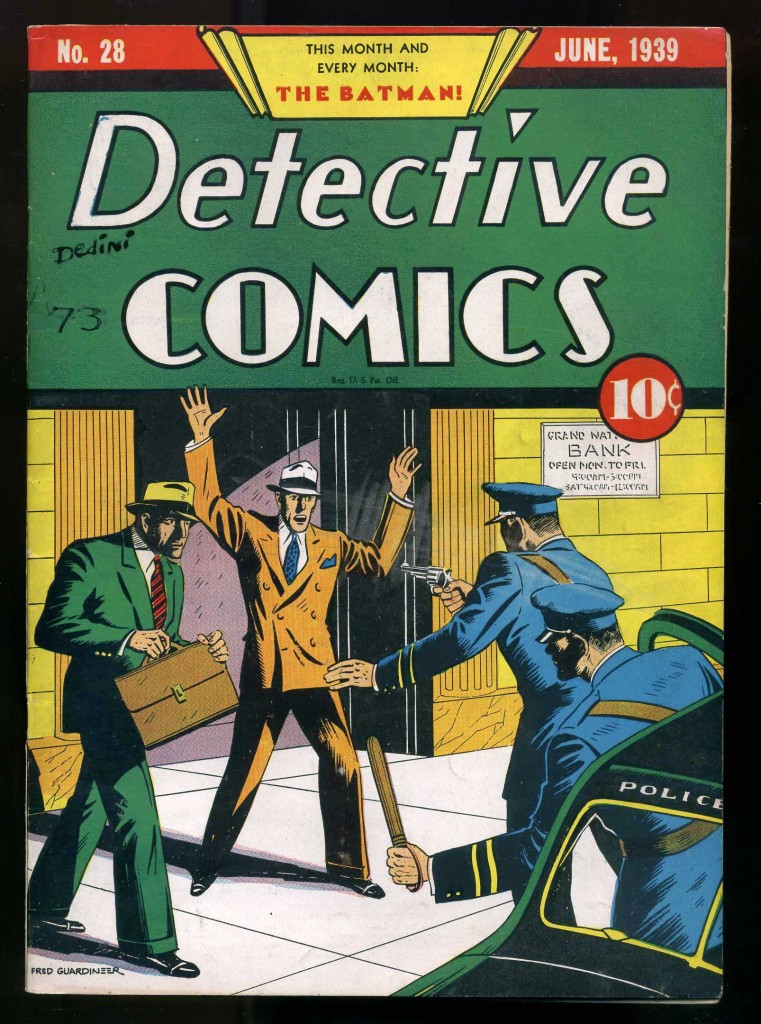 """The top lot of the Philip Weiss Auctions sale was this copy of """"Detective Comics"""" #28, from June 1939, which gaveled for $30,510."""