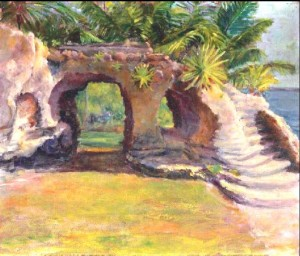 """Florida"" by Louis Comfort Tiffany."