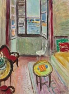 """La salle à manger à Saint-Tropez, fenêtre ouverte, no. 3"""" by Charles Camoin."""