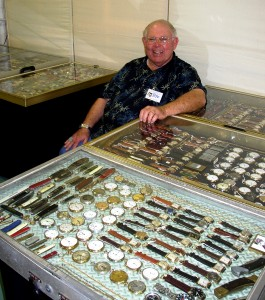 Peter Mellon, who displays more than 2,000 watches, watch chains, knives and lighters in his booth, will be among the myriad of dealers at the West Palm Beach Antiques Festival on March 5-7, 2010.