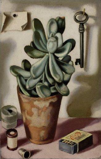 "Nature morte à la plante grasse"" by Tamara de Lempicka."