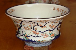 This large 17th century Imari bowl is the oldest piece in Wocher's collection.