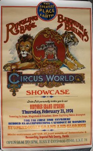 The first program was sold at the Circus World Showcase which was a preview center of what to expect in the future.