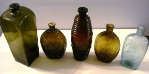 Offered will be a nice selection of rare and vintage flask bottles, such as these shown.