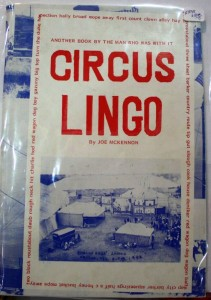 "Circus Lingo,"" by Joe McKennon."