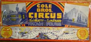 A 1937 Cole Bros. route book.