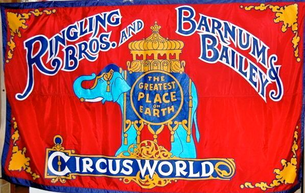 This large 6 foot by 12 foot backdrop was restored and brought to the reunion by former Director of Facilities, Bill Hall. It was actually the large flag flying at the Circus World entrance.