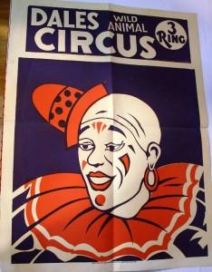Dales Wild Animal 3 Ring Circus poster.
