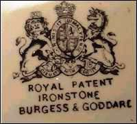 A genuine English Royal Arms mark.