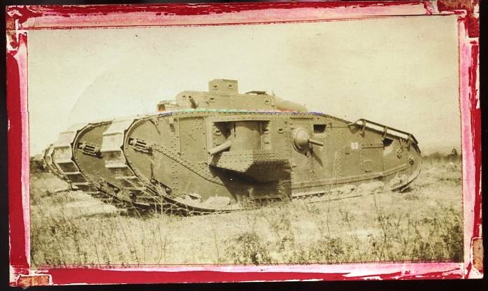 "A ""Land Battleship"" tank at Fort Benning."
