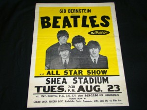 One-of-a-kind 1966 Beatles Shea Stadium concert poster, in a format previously unseen.