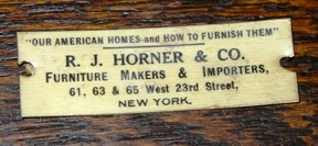 At then time this label was used in the early 20th century Robert J. Horner was both a manufacturer and a retailer.