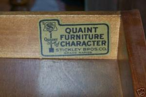 "The ""Quaint"" trade name was so popular for Stickley Brothers that it used it for various lines of furniture for more than 30 years."