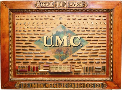 This extremely rare 1899 United Metal Cartridge Company factory bullet board sold for $11,769 in an Internet auction hosted by SoldUSA.com that ended on March 21, 2010.