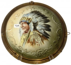 This unmarked Wave Crest pipe rack plaque with Indian Chief portrait décor sold for $9,750.