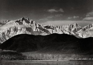 "Winter Sunrise, Sierra Nevada, from Lone Pine, California"" (1944), is among the works by Ansel Adams (1902-1984) featured in this sale."