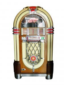 Wurlitzer jukebox, model #1015, in all original working condition ($8,050).