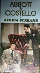 "One of the first VHS versions of ""Africa Screams"" was released in the mid 1980s and featured this artwork on the box."