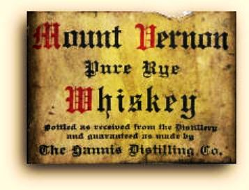 "A bottle of 100 proof Mount Vernon's ""Medicinal Purpose Only"" from the Prohibition era can put a big dent in one's wallet."