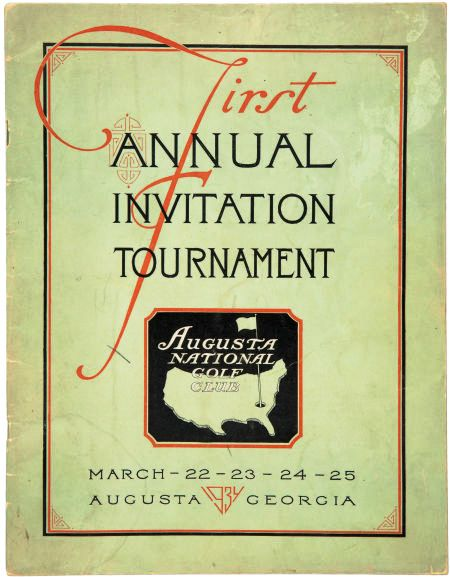 1934 First Masters Tournament Official Program