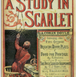 "A Study in Scarlet"" appeared in the magazine Beeton's Christmas Annual in 1887, introducing the iconic characters Sherlock Holmes and Dr. Watson."