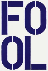 "Christopher Wool's ""Blue Fool"" (1990, estimate $1.5-$2 million)"