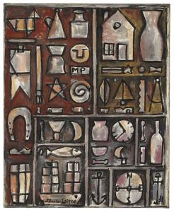 """""""Composición constructiva en planos y figuras,"""" by Joaquín Torres-García."""