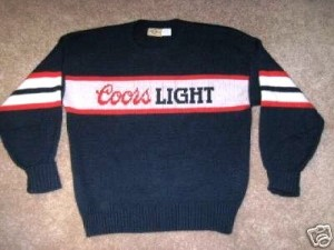 Coors Light sweater
