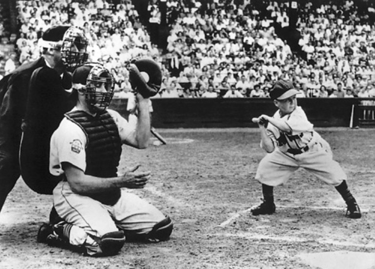 Eddie Gaedel, the first (and only) midget to play Major League Baseball.