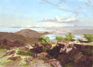 """""""El Valle de México desde el Cerro de Santa Isabel,"""" by José María Velasco."""