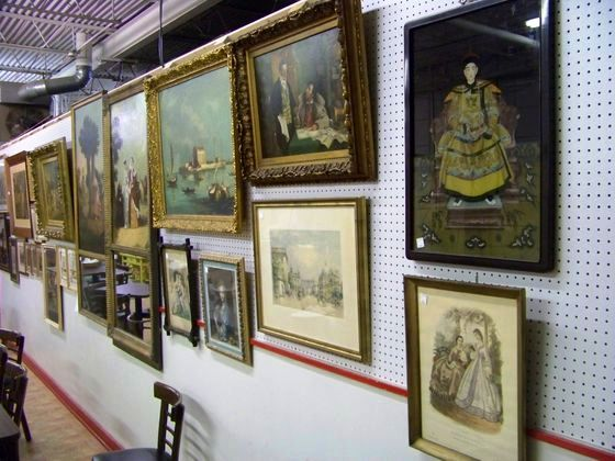 Some of the art that will be offered in the multi-estate Memorial Day auction hosted by Flowery Branch Auction & Antiques on May 31, 2010.