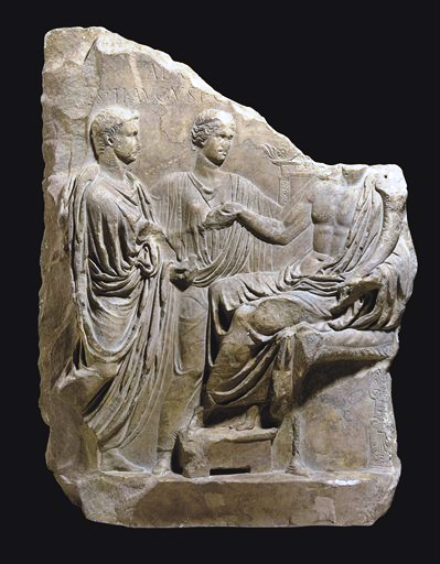 This rare Roman marble relief depicting the Emperor Tiberius will be offered at auction on June 10, 2010 during Christie's Antiquities Sale.