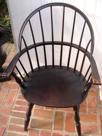 "This is variation of hoop back is called a ""sack back."" It is an American chair."