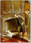 "Sidney Paget, hired to provide illustrations for Sherlock Holmes serials in The Strand magazine, based the image of the pipe-smoking sleuth on his brother Walter, described as ""strikingly handsome."" The series took off."