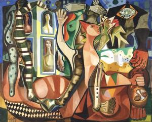 """""""Sonhos do carnival,"""" by Emiliano di Cavalcanti."""