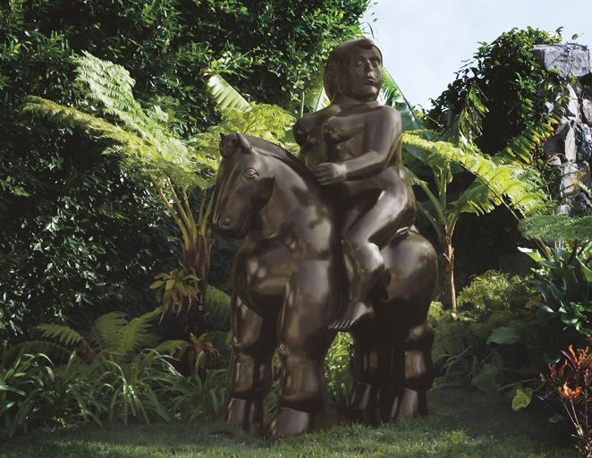 "Fernando Botero's ""Woman on a Horse"" (2002) is estimated to bring between $800,000 and $1,200,000 in a sale of Latin American art hosted by Christie's on May 26-27, 2010."