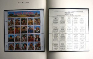 """The book was filled with illustrations and stories about the """"Legends"""" on the stamps. The book is valued at $20-$25."""