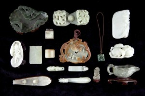 This lot of 16 wonderful Asian jade articles crossed the block for $11,500.