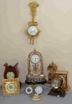 Group of decorative 19th century French and European clocks, certain to get paddles wagging.