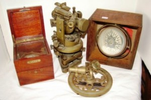 Just some of the many scientific and nautical items that will cross the block June 12.